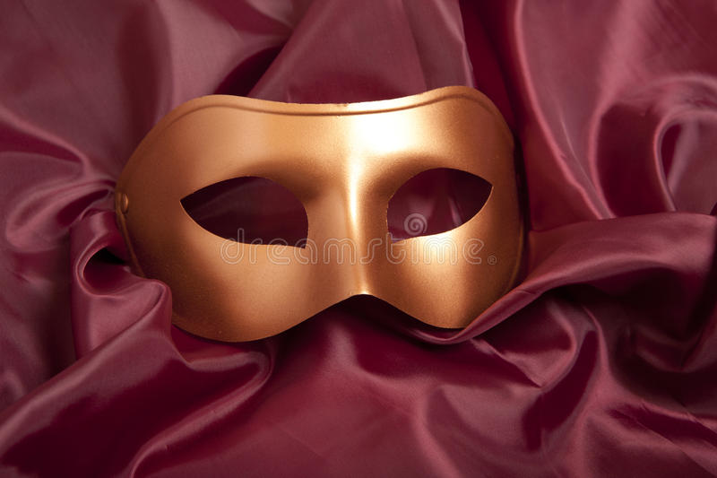 karnawałowa złota maska obraz stock