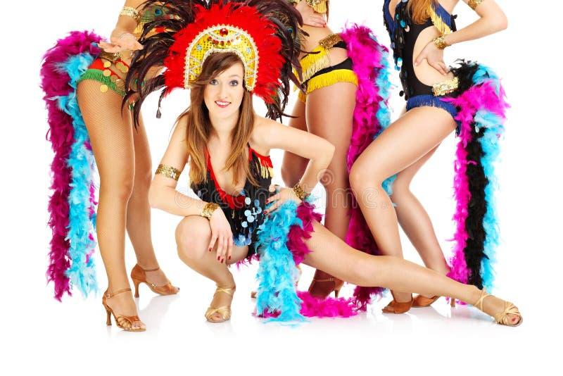 Karnawałowe dziewczyny! zdjęcie royalty free