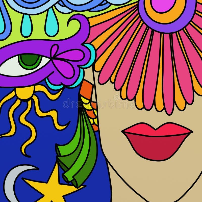 karnawałowe maski royalty ilustracja