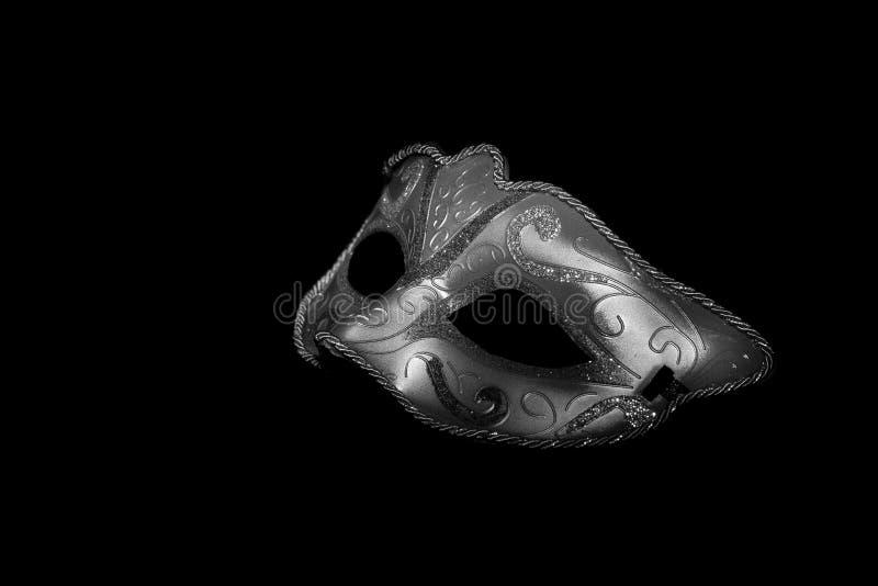 karnawałowe szarość odizolowywająca maska obrazy stock