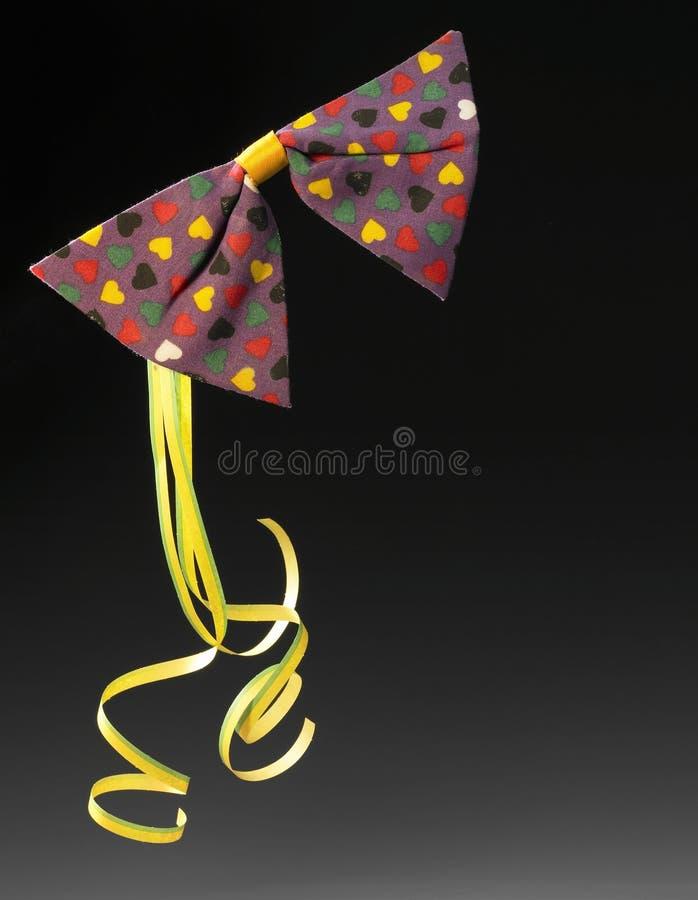 Karnawałowy łęku krawat zdjęcia royalty free