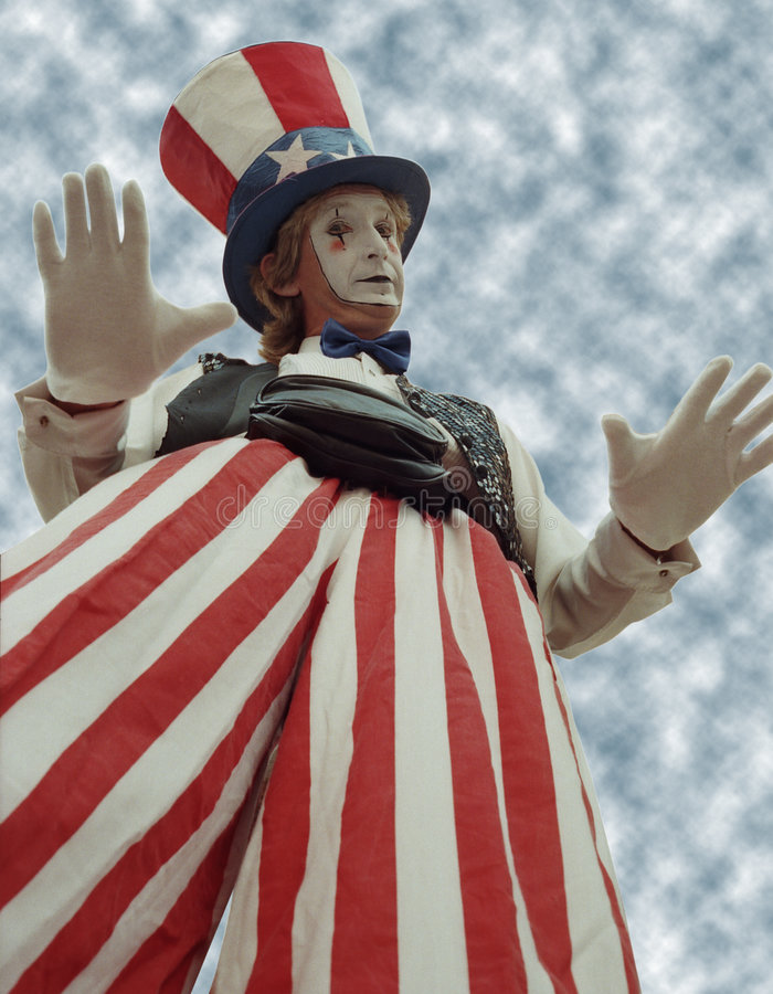 karnawałowy klaun fotografia stock
