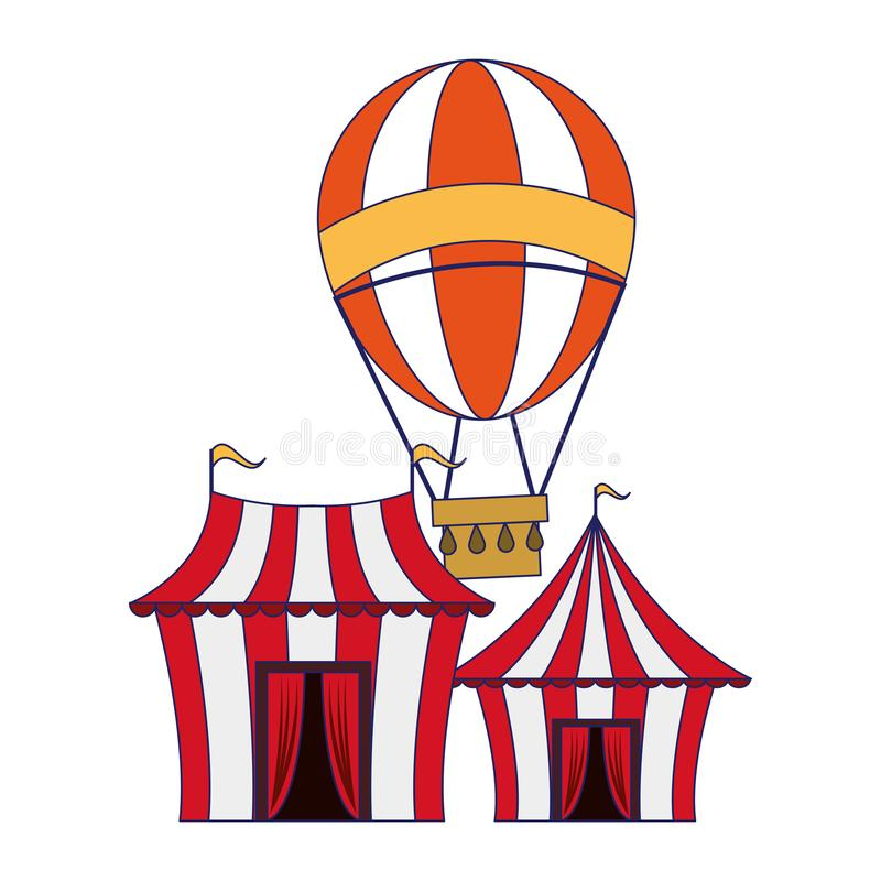 Karnawa?owe cyrkowe festiwal kresk?wek niebieskie linie royalty ilustracja