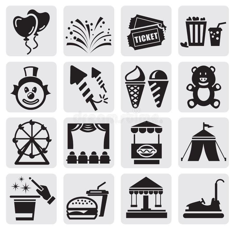 Download Karnawałowe ikony ilustracja wektor. Obraz złożonej z piktogram - 25986851