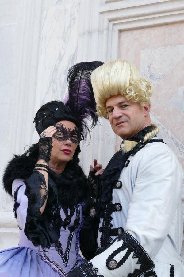 Karnawa? 2019 w Wenecja W?ochy zdjęcia royalty free