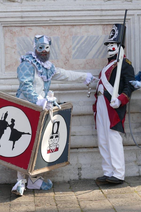 Karnawa? 2019 w Wenecja W?ochy fotografia royalty free