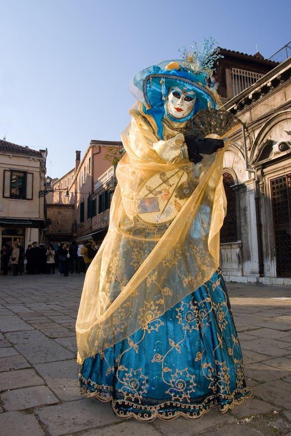 karneval 2009 venice royaltyfria foton