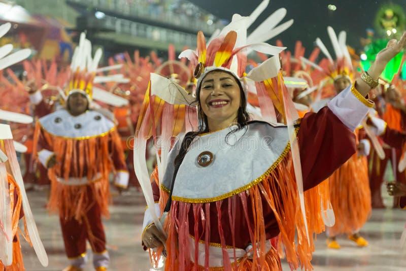Karneval 2019 - Alegria da Zona Sul fotografering för bildbyråer
