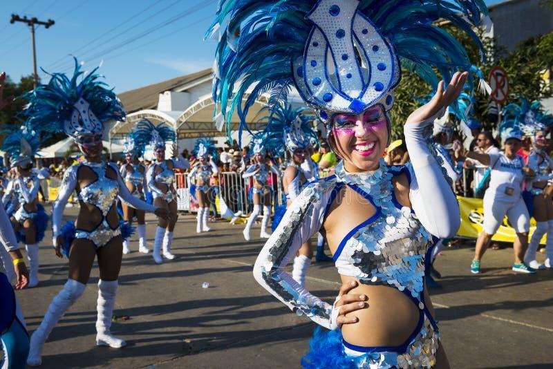 Karneval av Barranquilla, i Colombia royaltyfria bilder