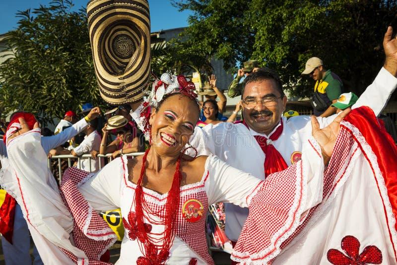 Karneval av Barranquilla, i Colombia royaltyfri foto