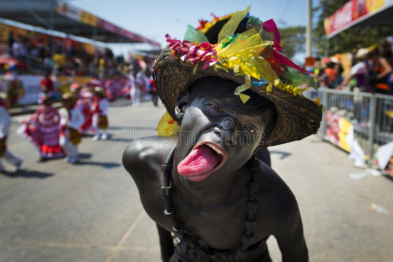 Karneval av Barranquilla, i Colombia royaltyfria foton
