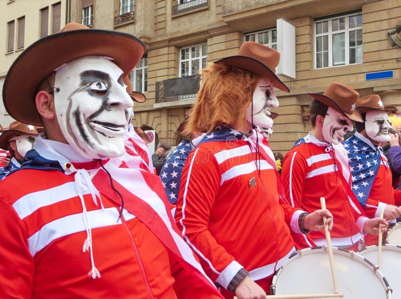 Karneval av Baseln - amerikan arkivbilder