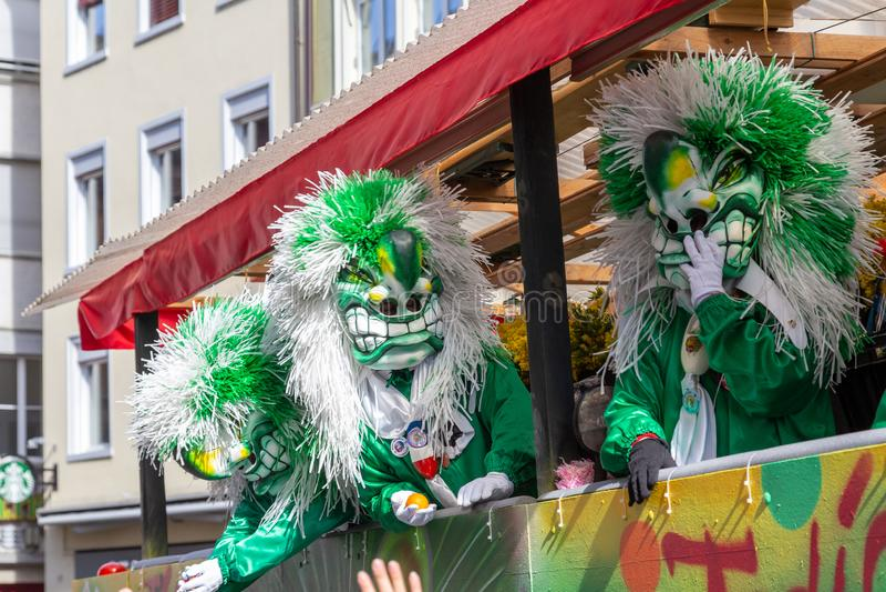 Karneval av Baseln 2019 arkivfoton