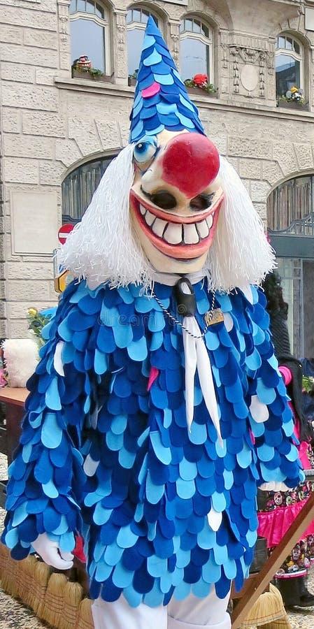 Karneval av Baseln - dräktblått fotografering för bildbyråer