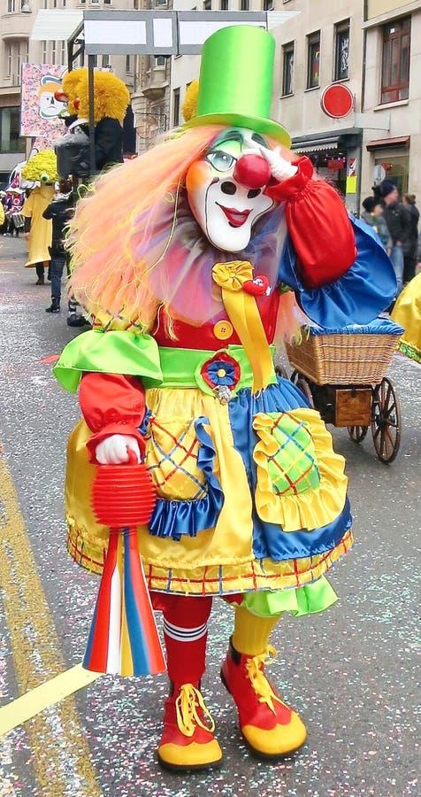 Karneval av Baseln - färg royaltyfria foton