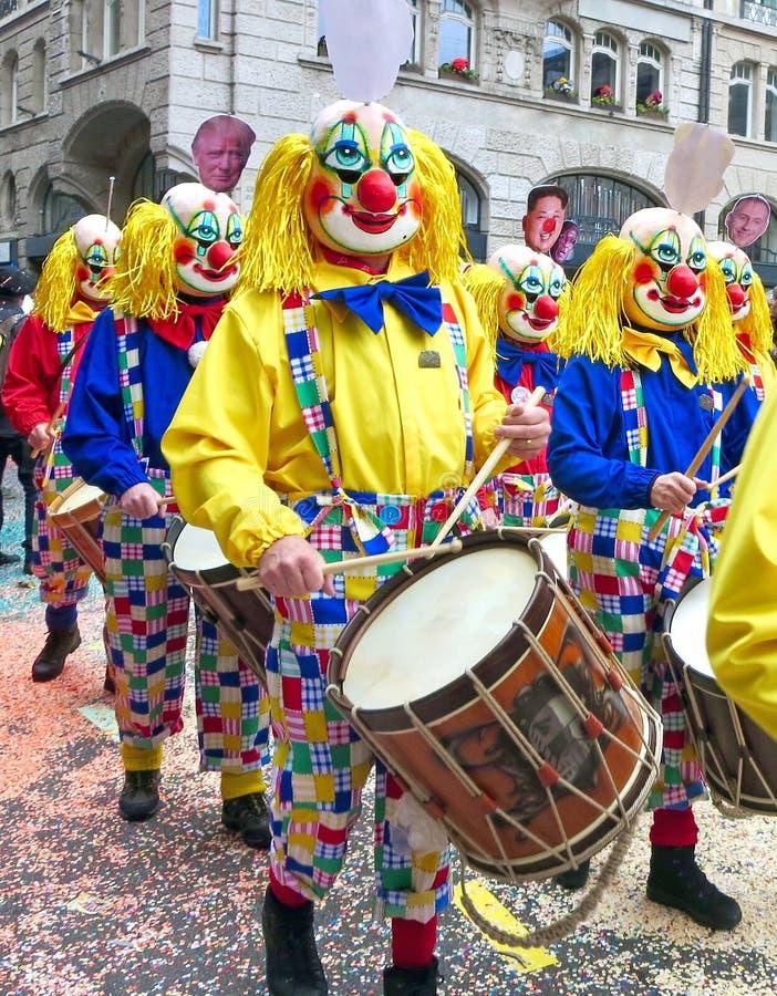 Karneval av Baseln - handelsresande arkivfoto