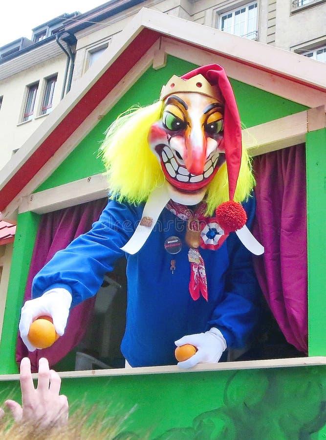 Karneval av Baseln - harlekin arkivbild