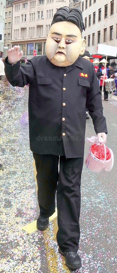 Karneval av Baseln - Kim Jong-FN arkivbilder