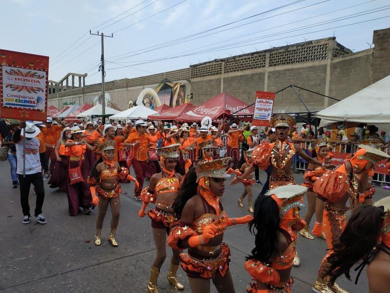 Karneval barranquilla som är bästa av Colombia royaltyfri foto