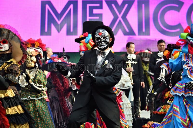 Karneval Dia de Los Muertos Tag der toten Parade stockfoto