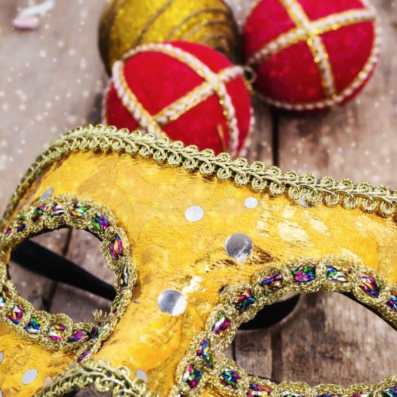 Karneval, die Maske des neuen Jahres lizenzfreies stockbild