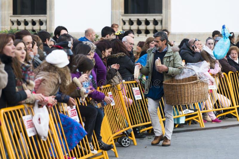 Karneval i Galicia (Spanien) royaltyfria foton