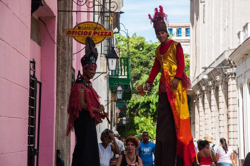 Karneval i havannacigarren, Kuba arkivbilder