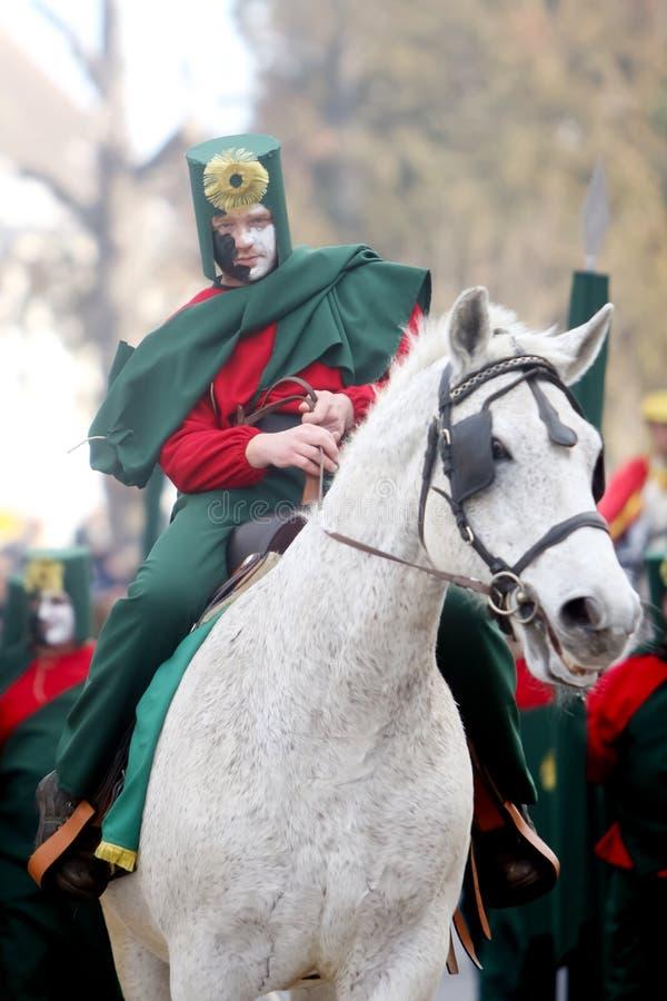 Karneval i Velika Gorica - ämnen legenden av krigare #2 arkivfoto