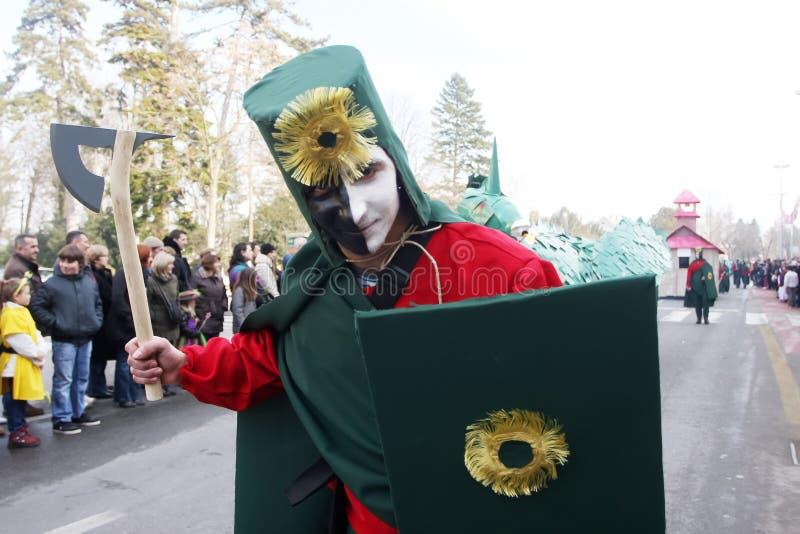Karneval i Velika Gorica - ämnen legenden av krigare #1 royaltyfri bild