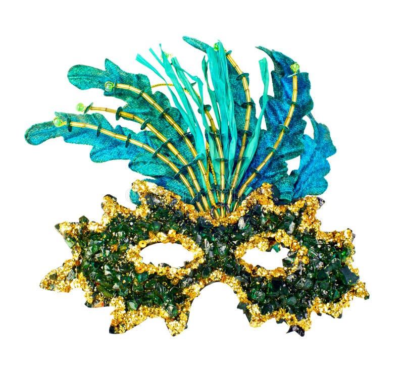 karneval isolerad maskeringswhite arkivbild