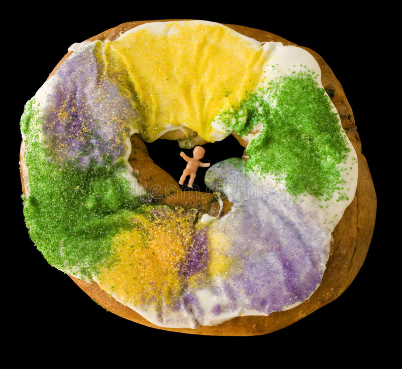 Karneval-König Cake lizenzfreie stockfotografie