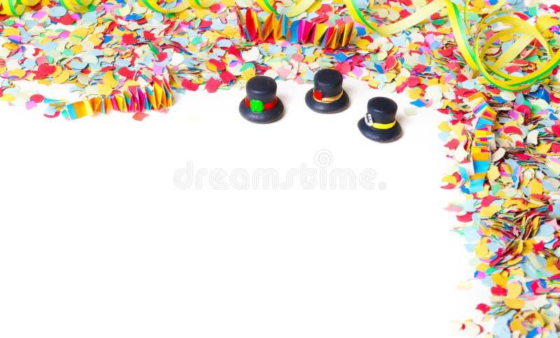 Karneval, Konfetti, Partei, Hintergrund stockfotos