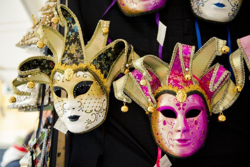 Karneval maskiert Venedig, Andenken lizenzfreie stockfotos