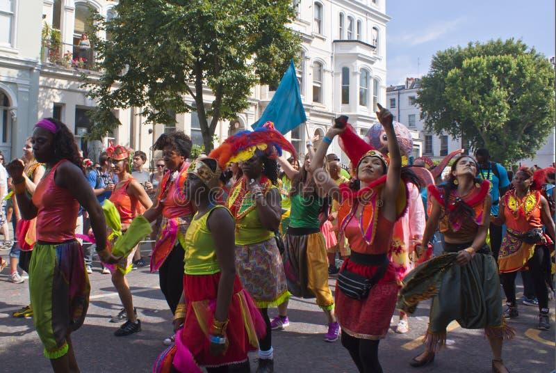 Karneval Notting Hill royaltyfria bilder