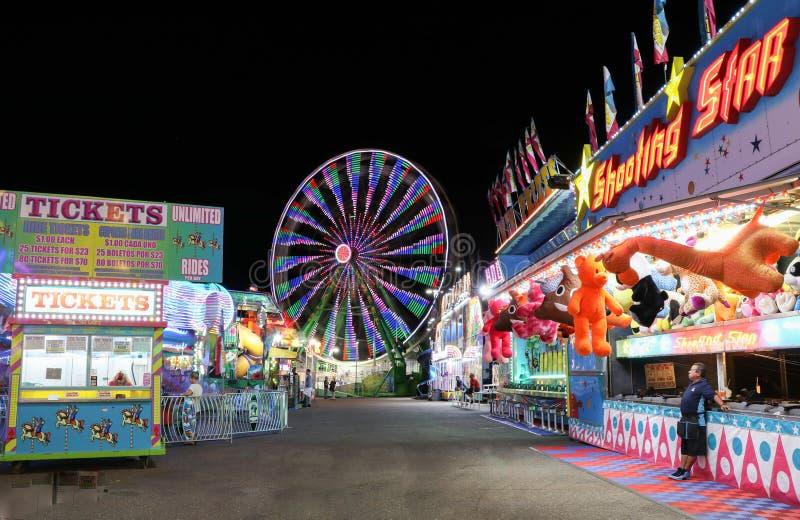Karneval på natten royaltyfria foton