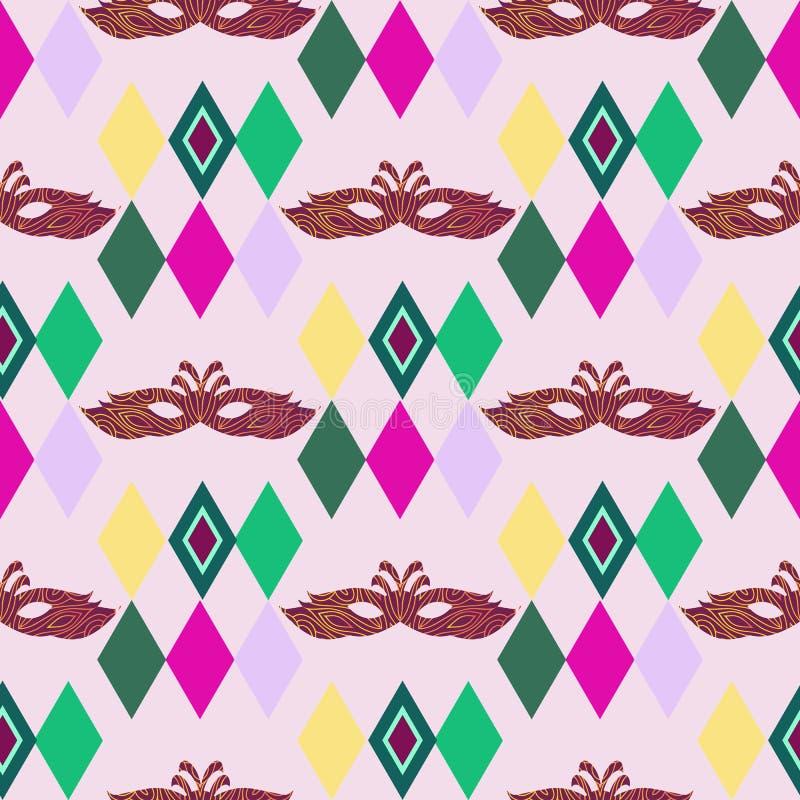 Karneval pattern8 vektor illustrationer
