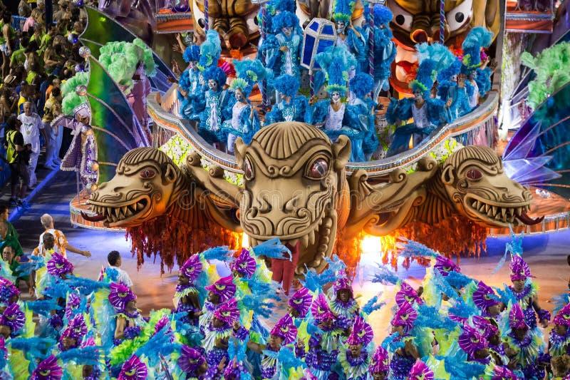 Karneval 2014 - Rio de Janeiro arkivfoton
