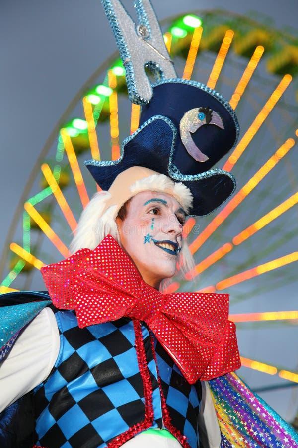Karneval Santa Cruzde-Tenerife: Clown stockfoto