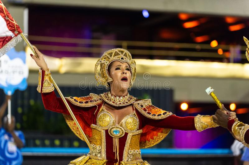 Karneval 2019 - Unidos de Bangu royaltyfri fotografi