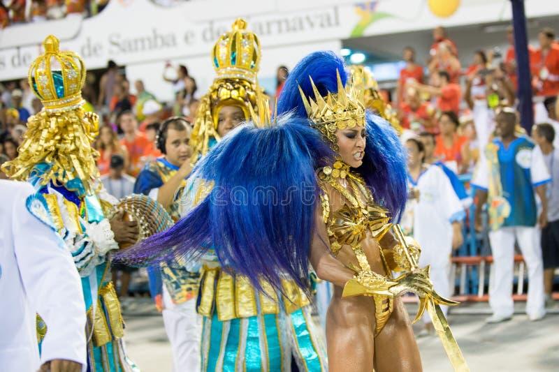 Karneval 2016 - Vila Isabel royaltyfri bild