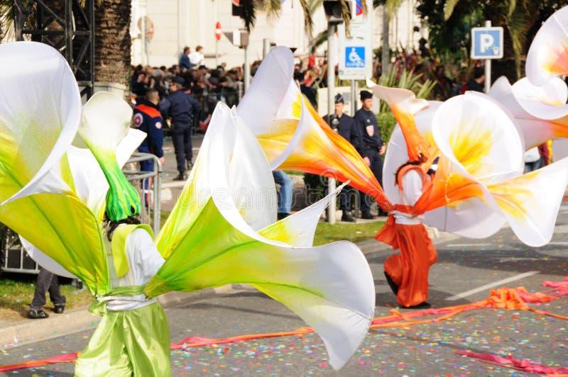 Karneval von Nizza, Frankreich. lizenzfreie stockfotografie