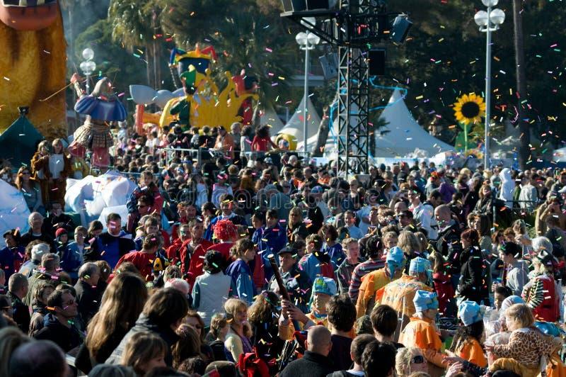 Karneval von Nizza, Frankreich. lizenzfreie stockbilder