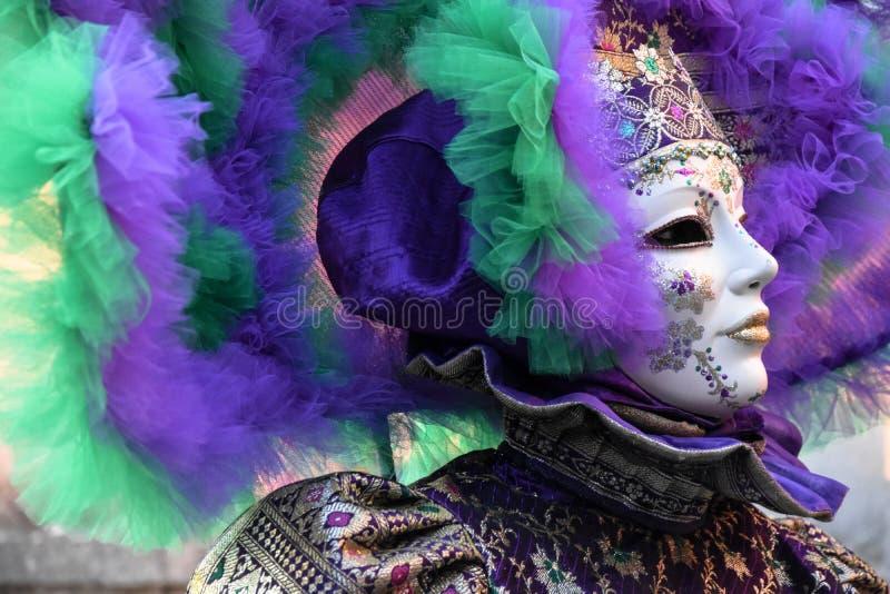 Karneval von Venedig, schöne Masken, Italien stockbilder