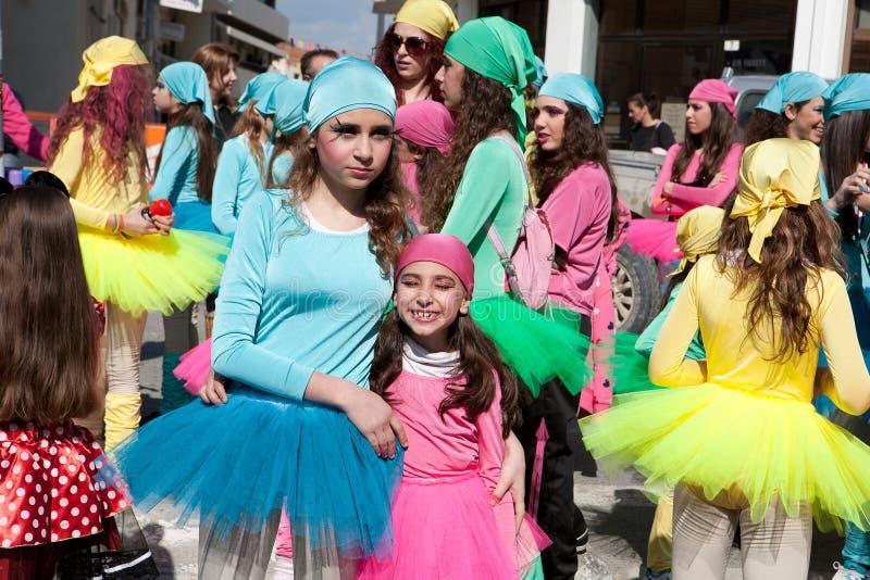 karnevalbarn limassol royaltyfri bild