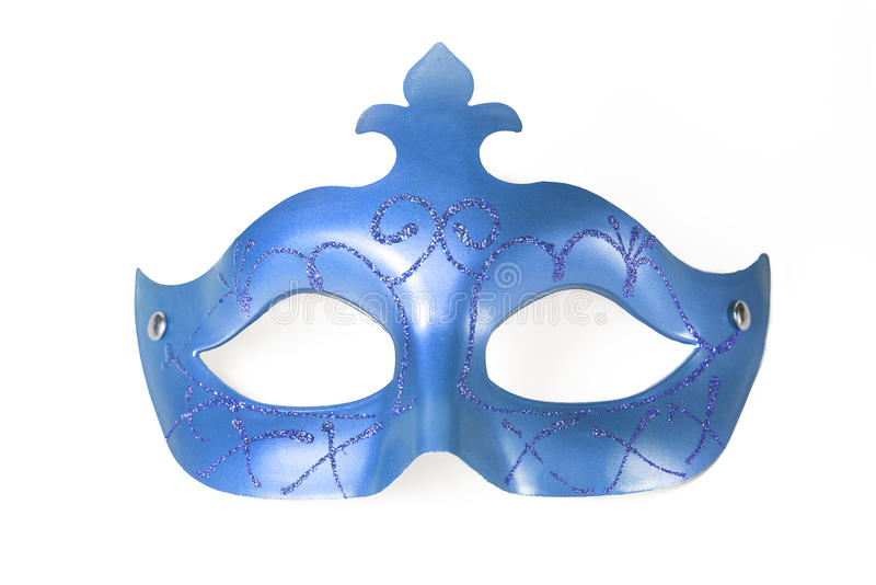 Karnevalblåttmaskering royaltyfri foto
