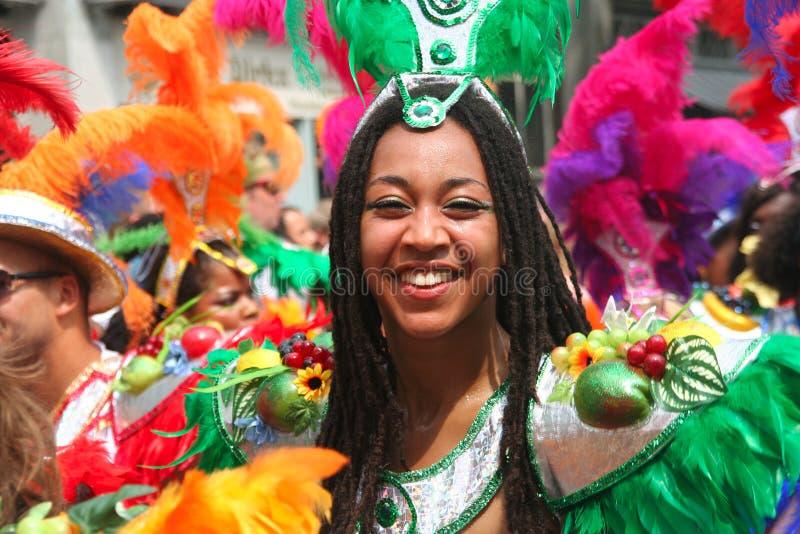 karnevaldansare royaltyfri foto