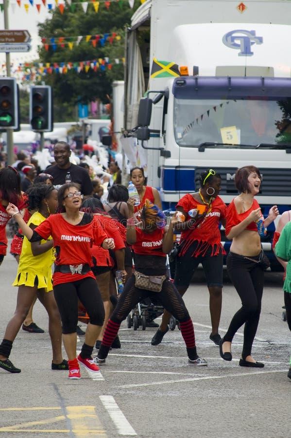 karnevaldansare leicester royaltyfria bilder