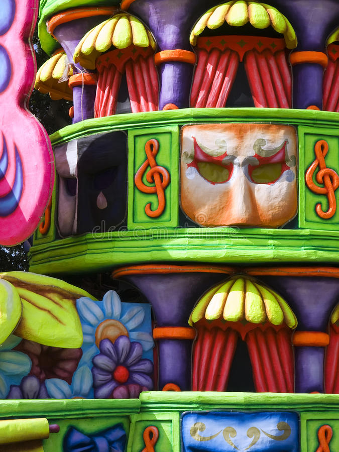 karnevaldetaljfloat royaltyfria bilder
