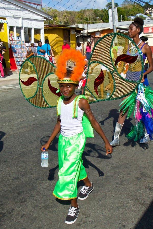 Karnevaldräkter i Trinidad och Tobago arkivfoto