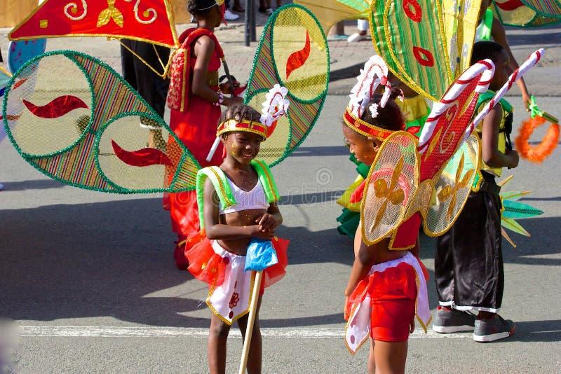 Karnevaldräkter i Trinidad och Tobago arkivbilder